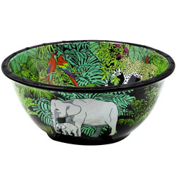 Grand Saladier Profond en mélamine pure - 25 cm - Jungle