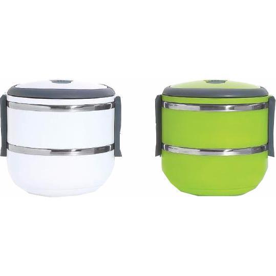 la lunch box isotherme blanche de 2 compartiments pour un. Black Bedroom Furniture Sets. Home Design Ideas