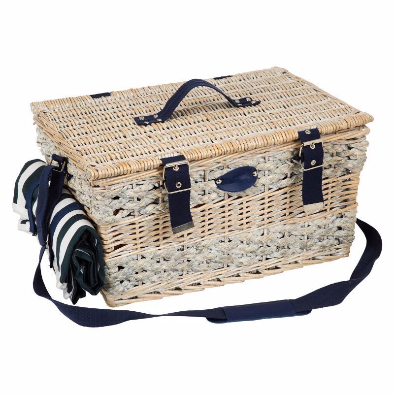 panier picnic isotherme panier pique nique osier gris avec compartiment isotherme panier pique