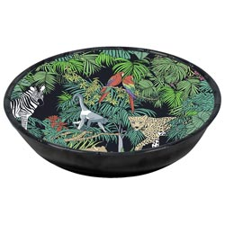 Grande Assiette Creuse en mélamine pure - 23 cm - Jungle