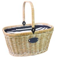 Panier isotherme Chantilly Marine en osier blanchi