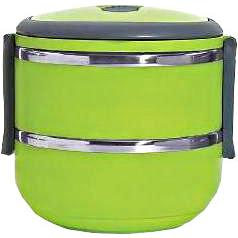 Lunch box isotherme verte - 2 compartiments