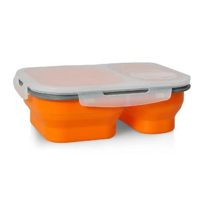Lunch box hermétique en silicone orange