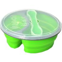Lunch box isotherme en silicone vert