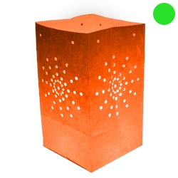 Pack de 10 lanternes de jardin Maya couleur orange