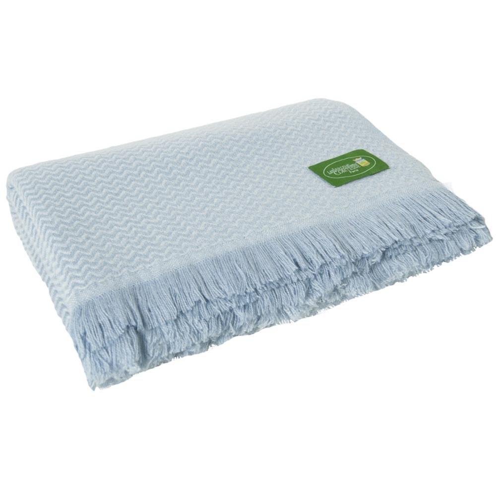 plaid l ger cachemire et laine chevrons bleu ciel. Black Bedroom Furniture Sets. Home Design Ideas