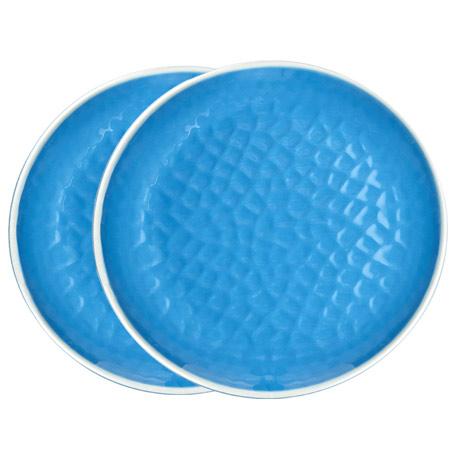 assiette 27 cm incassable en m lamine pure united color bleue. Black Bedroom Furniture Sets. Home Design Ideas